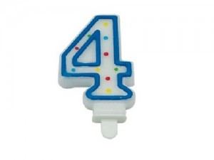 "Birthday Numerical Candle ""4"""