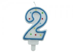 "Birthday Numerical Candle ""2"""